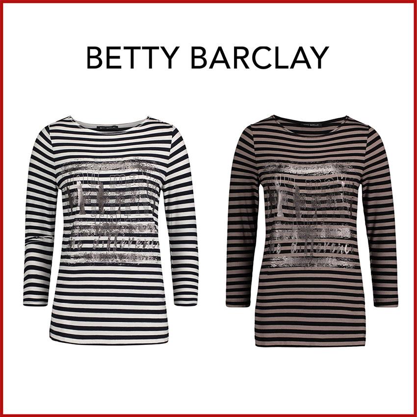 3/4 Arm Basic Shirt mit Streifen, betty barclay
